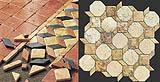 Pavimenti intarsiati di marmo anticato, by Linea Rustica Marmi