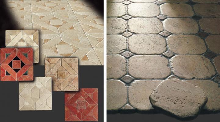 Pavimenti in opus sectile di marmo di Linea Rustica Marmi