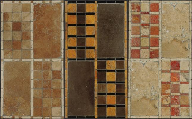 Pavimenti in opus sectile di Linea Rustica Marmi