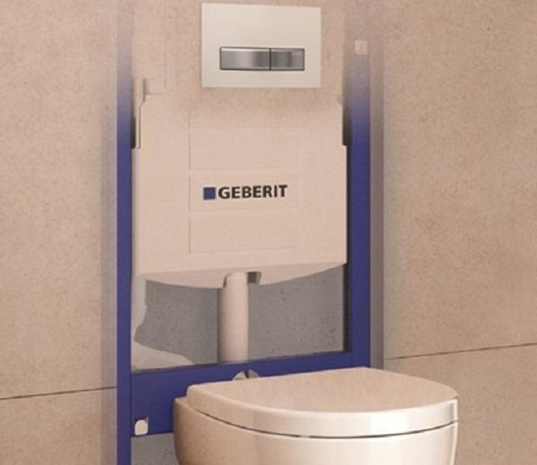 Lo scarico del WC a risparmio idrico di Geberit