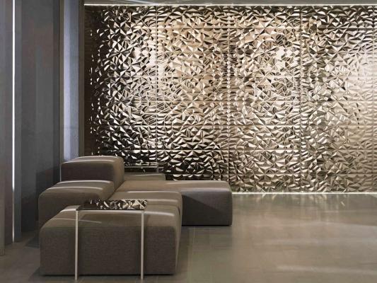 Rivestimento murale effetto metallo Prisma Bronze Porcelanosa