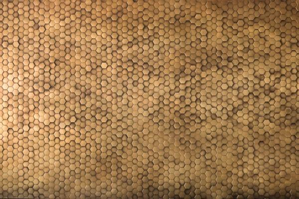 Rivestimento mosaico metallico esagonale De Castelli Copycat