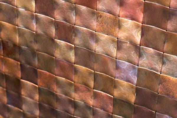 Rivestimento murale effetto metallo 3D De Castelli Square