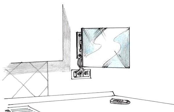 Montaggio porta tv a muro