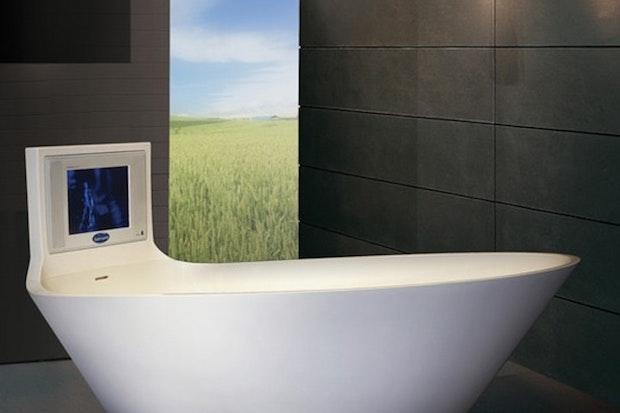 Vasca da bagno con tv integrato, da Saturn Bath
