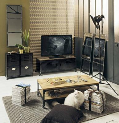 Porta tv stile industrial, da Maisons du Monde