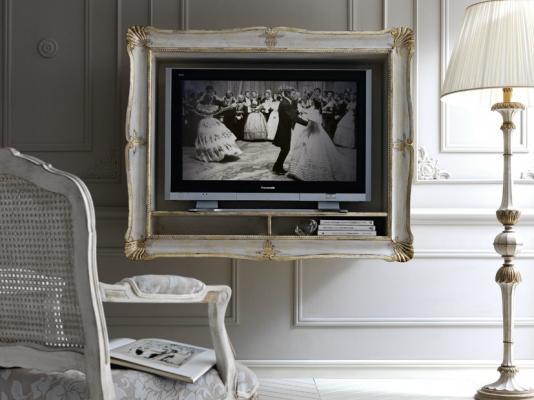 Bacheca porta tv con cornice, da Grifoni Silvano