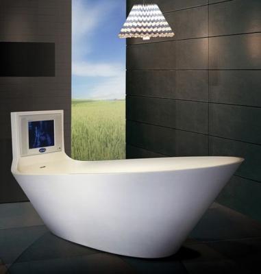 Vasca da bagno con tv integrata, da Saturn Bath