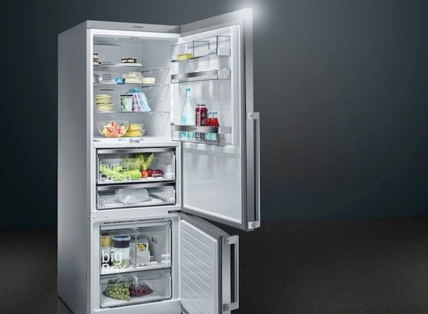 Frigocongelatori con sensori smart, da Siemens