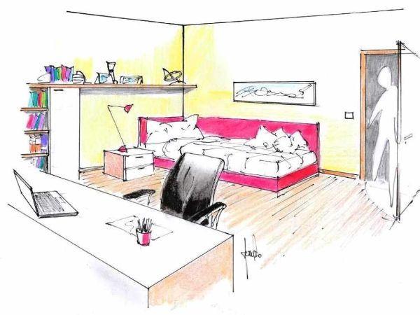 Dimensionamento camera da letto - Camera da letto singola moderna ...