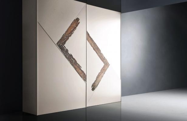 Armadio Cross Cenedese per camera: design geometrico