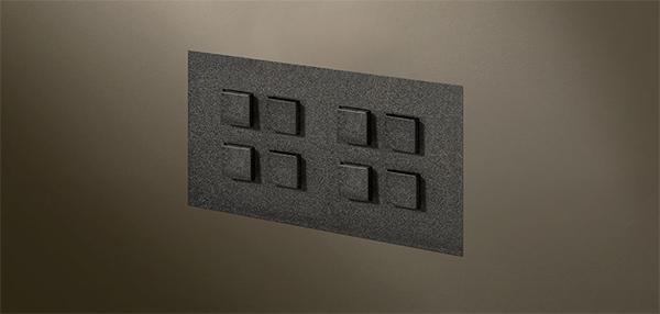 Interruttore doppio a filo muro Select Flush di Lithoss