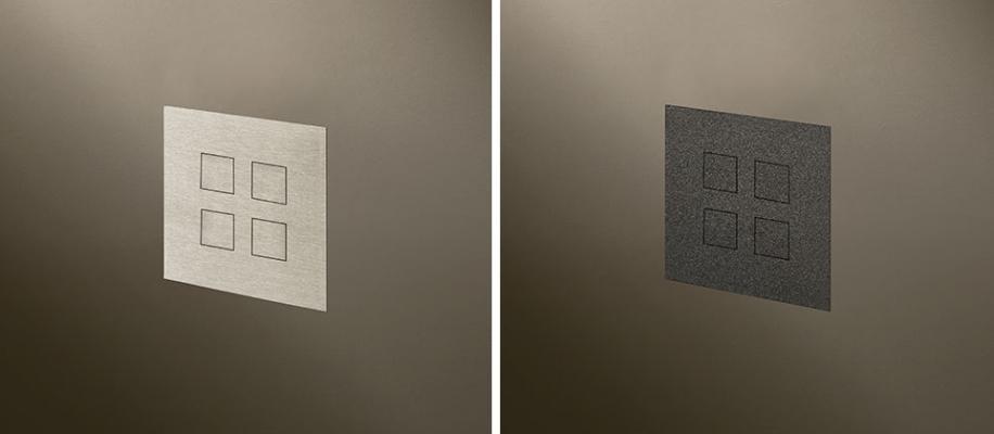 Interrutori a filo muro Squares Flush by Lithoss