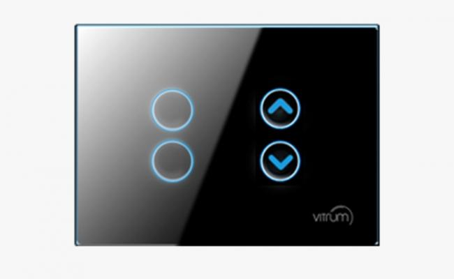 Interruttore Domotico Tech 4 pulsanti master on/off di Vitrum