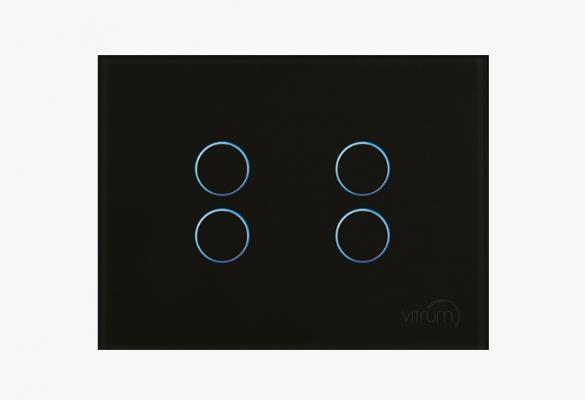 Interruttore Domotico Tech 4 pulsanti di Vitrum