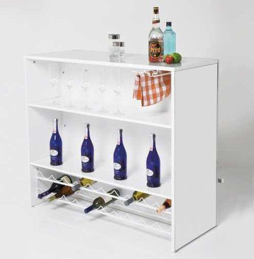 Space-saving bar cabinet, from Kare-Design