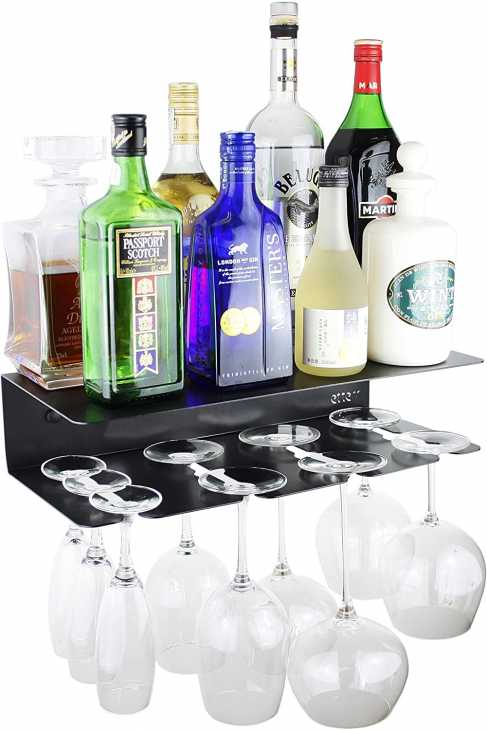 Shelf for corner bar at home, from Amazon