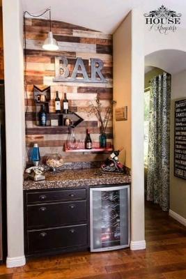 Angolo bar in una nicchia, da decoraciondeinteriores21.com