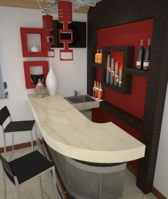 Angolo bar con lavello, da einteriors.us