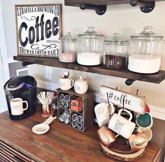 Scritte e adesivi per personalizzare angolo caffè, da trend4homy.com