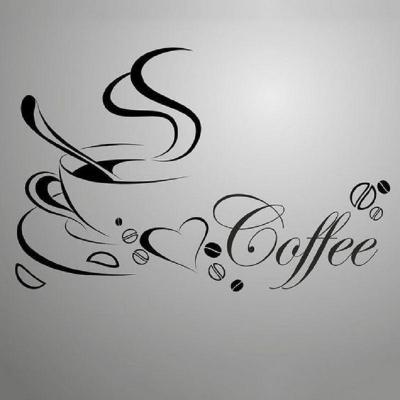 Scritte a tema per personalizzare angolo caffè, da sparklingselections.com