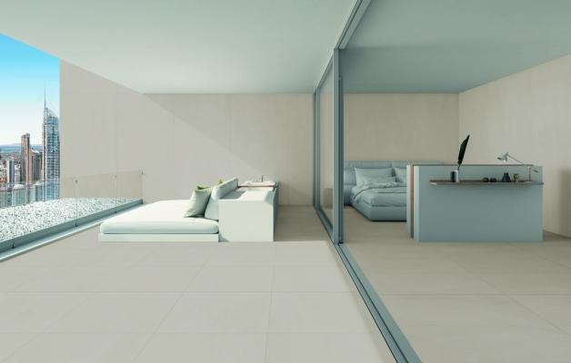 Pavimenti effetto cemento grande formato linea Built di Cesar