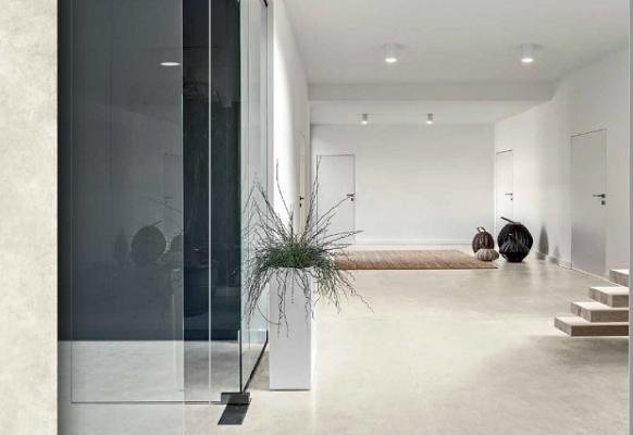 Pavimento effetto cemento linea Built di Cesar Talc