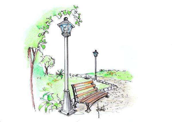 Lampioni da giardino in stile classico