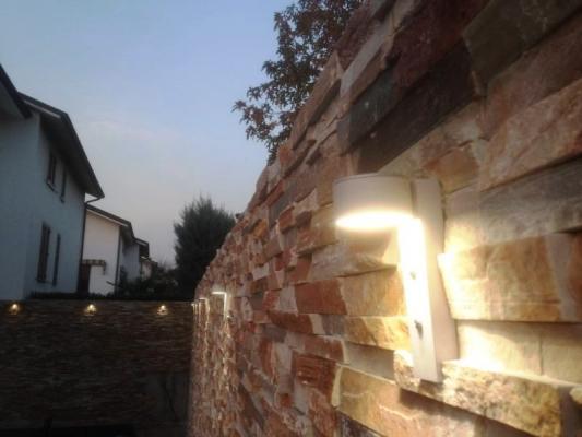 Farett a led per illuminazione parete in pietra, by Novaprecisio