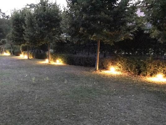 Faretti a led segnapasso per illuminazione siepe, di Novaprecisio