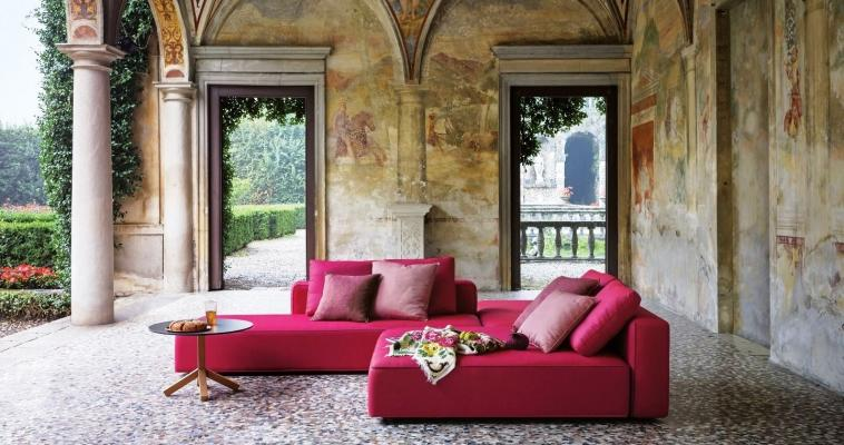Divani da esterno tipo chaise lounge, collezione Dandy di Roda