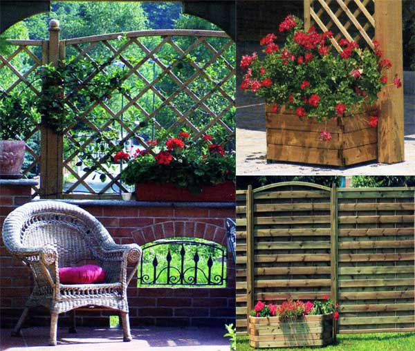 Grigliati in legno per terrazzi e giardini, by ALCA