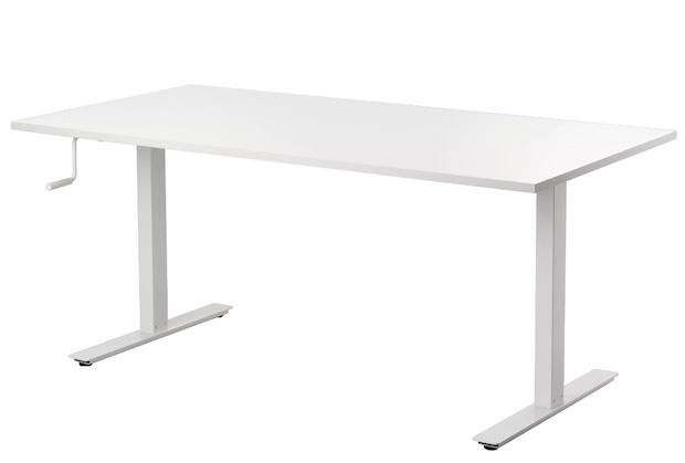 Scrivania regolabile in altezza, da Ikea