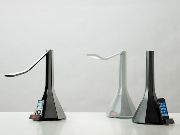 Lampada con docking station, da Rotaliana