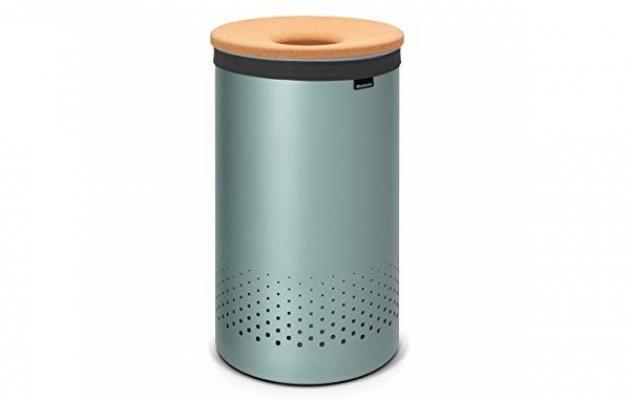 Cesto portabiancheria Laundry Bin di Brabantia metallic mint