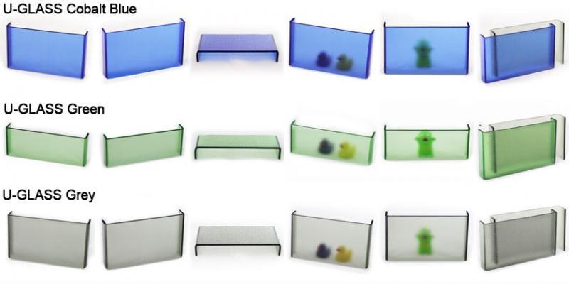 U-glass colorati di Saint Gobain