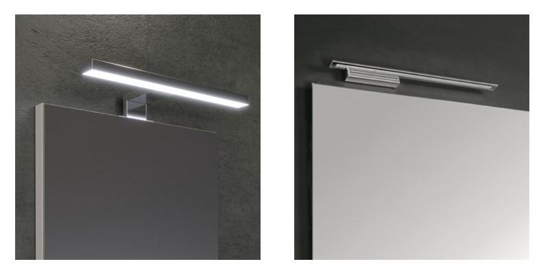 Specchio per bagno con luce di Desivero