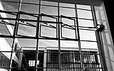 Particolare della facciata continua del Bauhaus di Dessau