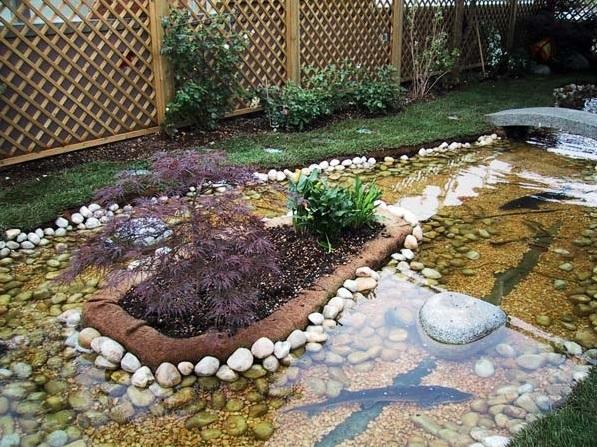 Sassi da giardino decorare l 39 esterno con ciottoli e graniglia for Piante laghetto