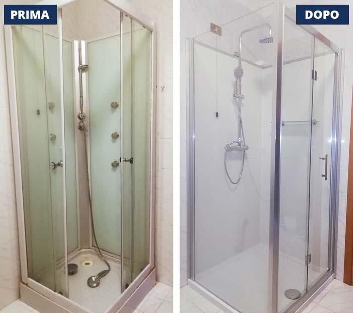 Transformationsbad mit Dusche