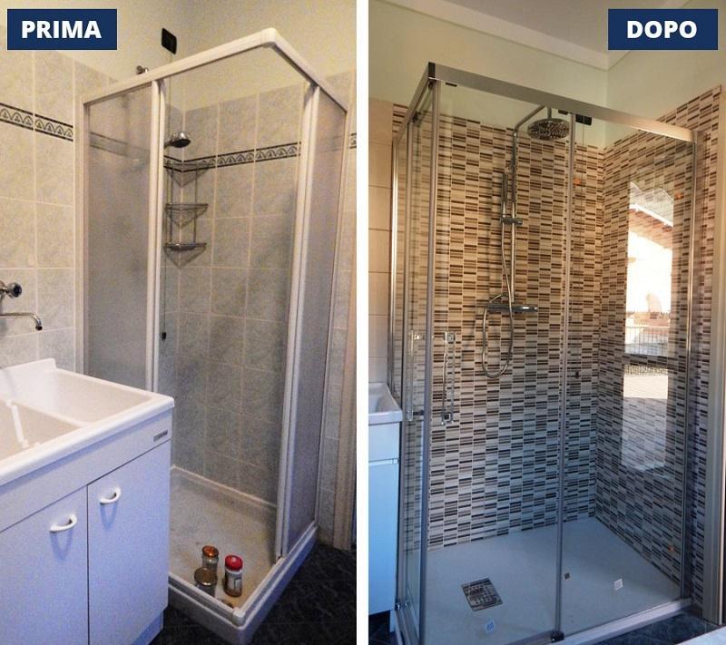 Foto sostituzione vasca con doccia for Costi vasche da bagno