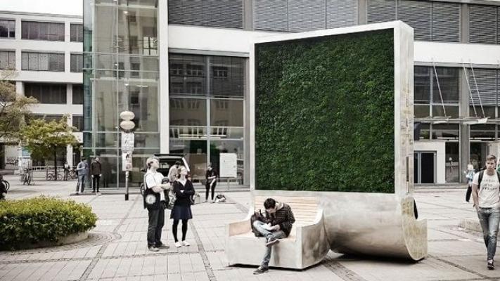 City Tree, un pannello mangia smog di Climate- KIC