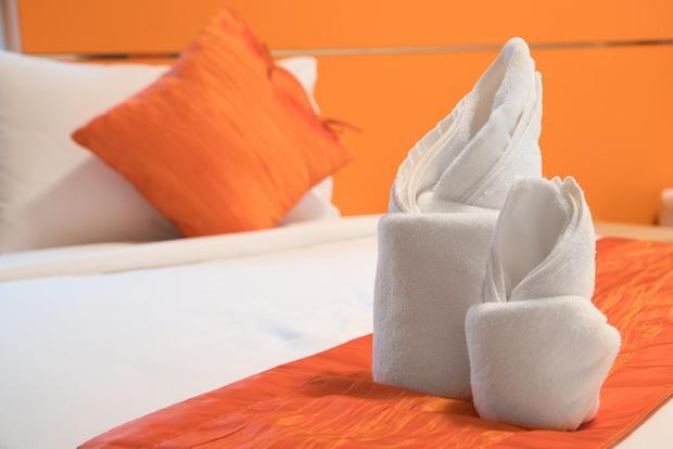 Origami towel