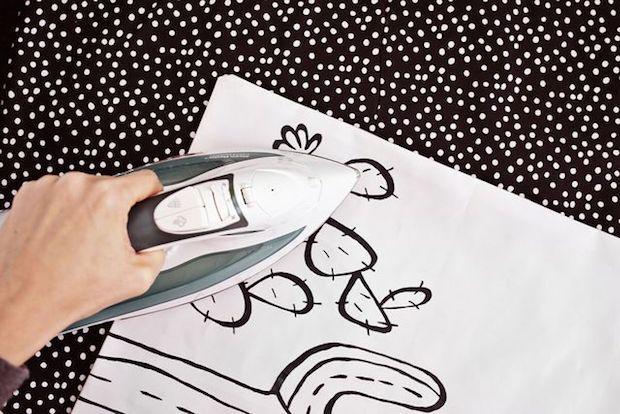 Dipinto su stoffa, fissaggio con ferro da stiro, da bloglovin.com