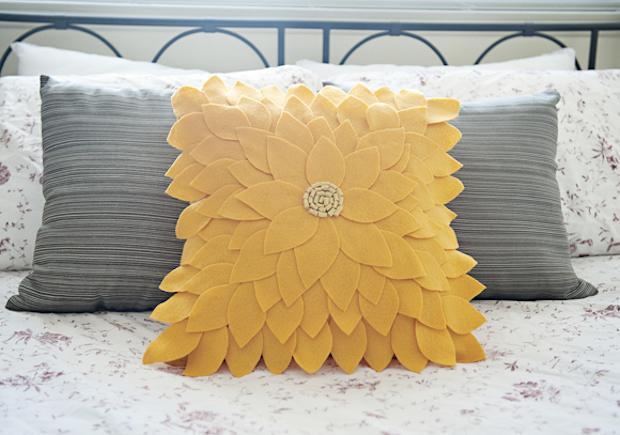 Cuscino a forma di girasole, da fabyoubliss.com