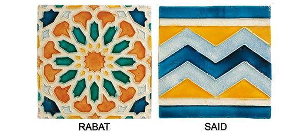 Piastrelle in rilievo in stile arabeggiante di Cottovietri