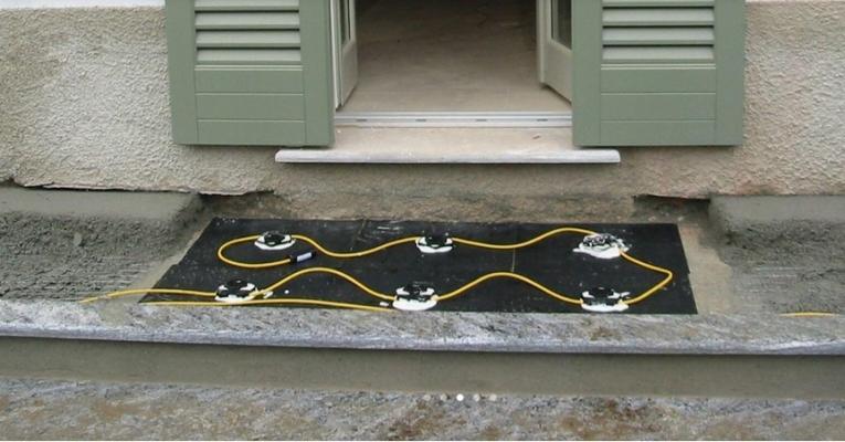 Allarme sottopavimento dettaglio soglia balcone installazione