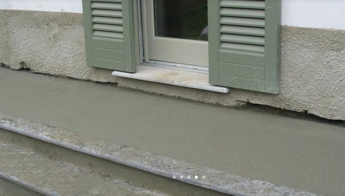 Allarme sottopavimento dettaglio soglia balcone dopo installazione