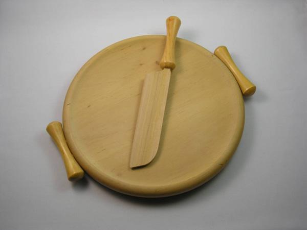 Tagliere tondo legno, by Artigianato Borelli