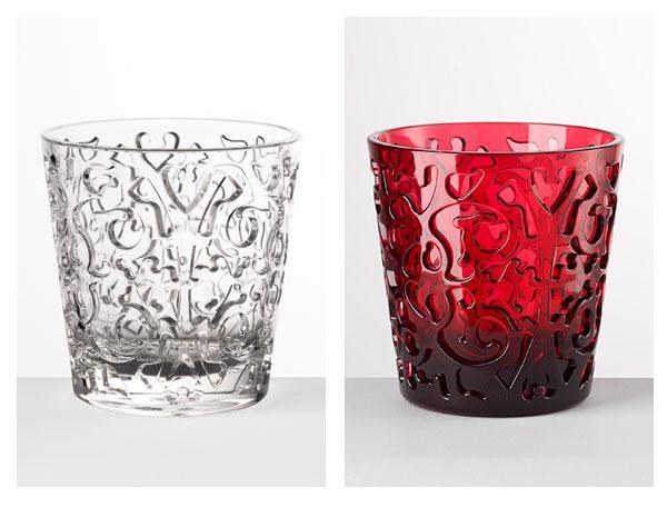 Bicchieri rossi, trasparenti, colorati di Mario Luca Giusti